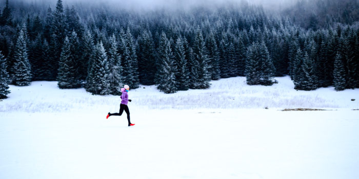 Running Inspiration And Motivation, Runner In The Snow